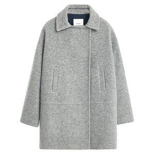 Brand New Wool Blend Coat - Gray